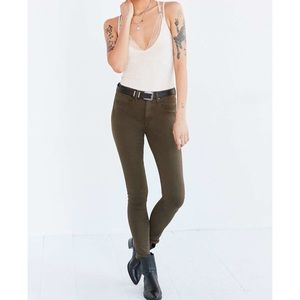 UO's BDG Olive Twig High-Rise Skinny Jean